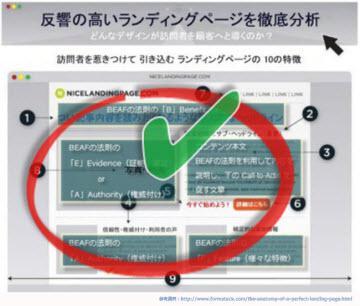 nicelandingpage.comのサイトをBeafの法則を使って解説3